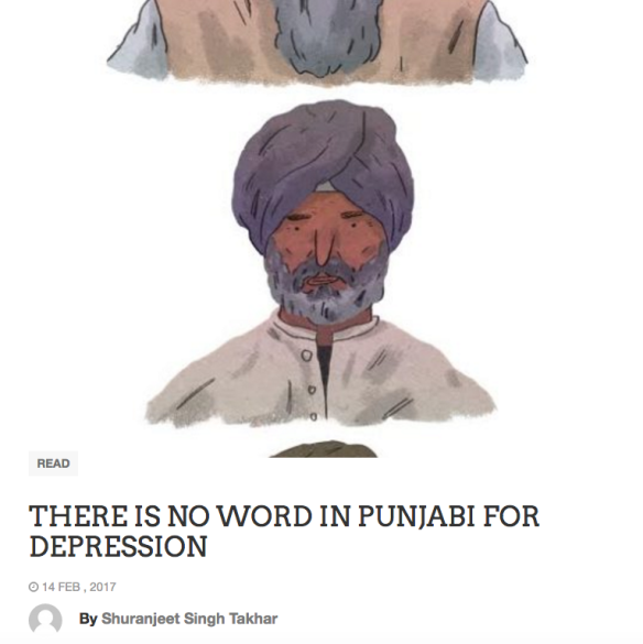 THERE IS NO WORD IN PUNJABI FOR DEPRESSION | Kalwinder Singh